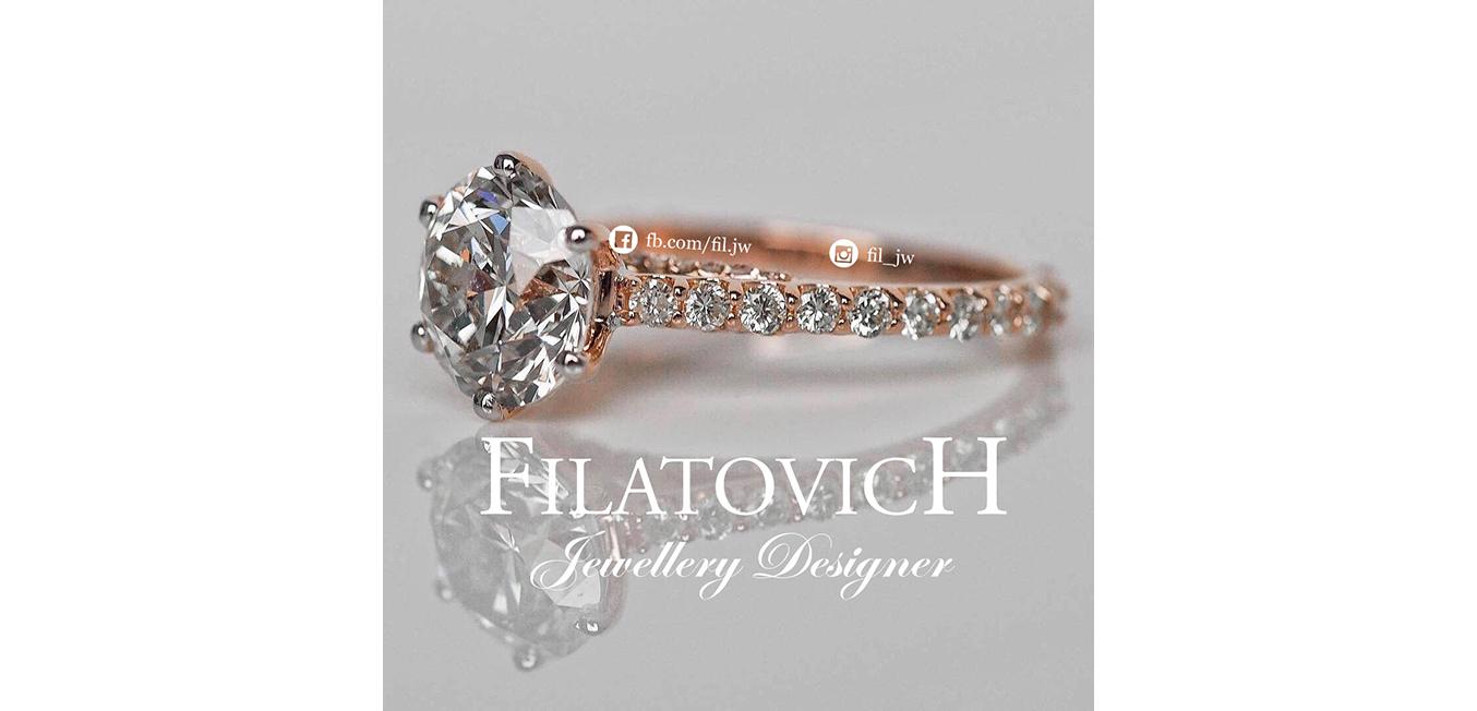 Кольцо с бриллиантами JRP-012