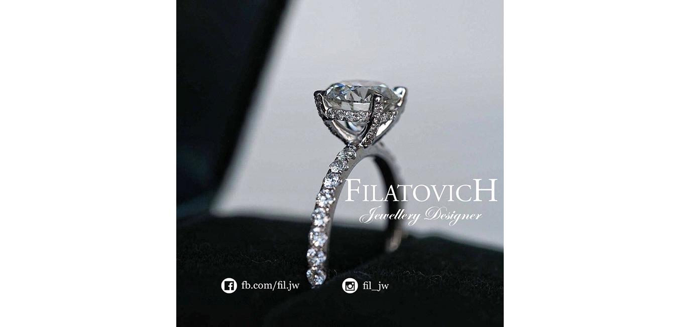 Кольцо с бриллиантами JRP-019