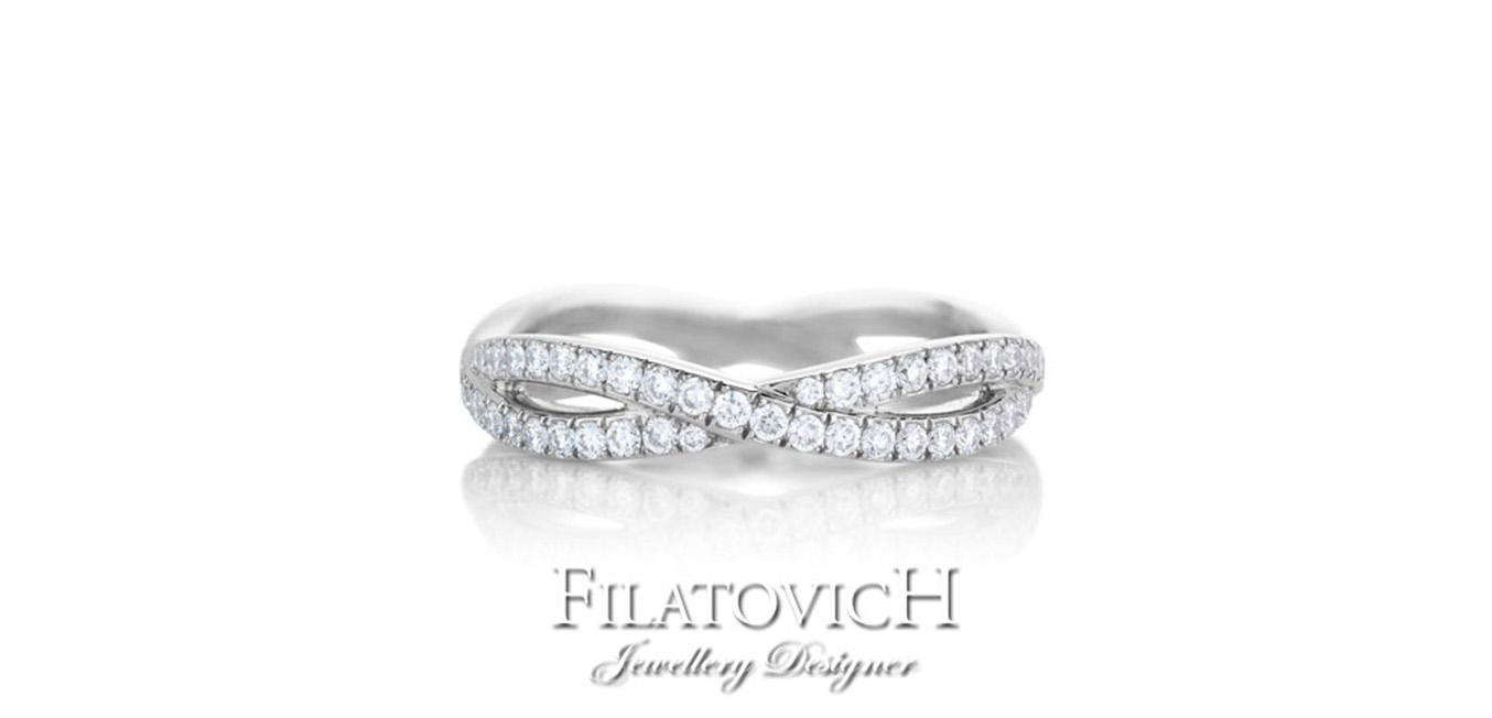 Кольцо дорожка с бриллиантами RDB-076