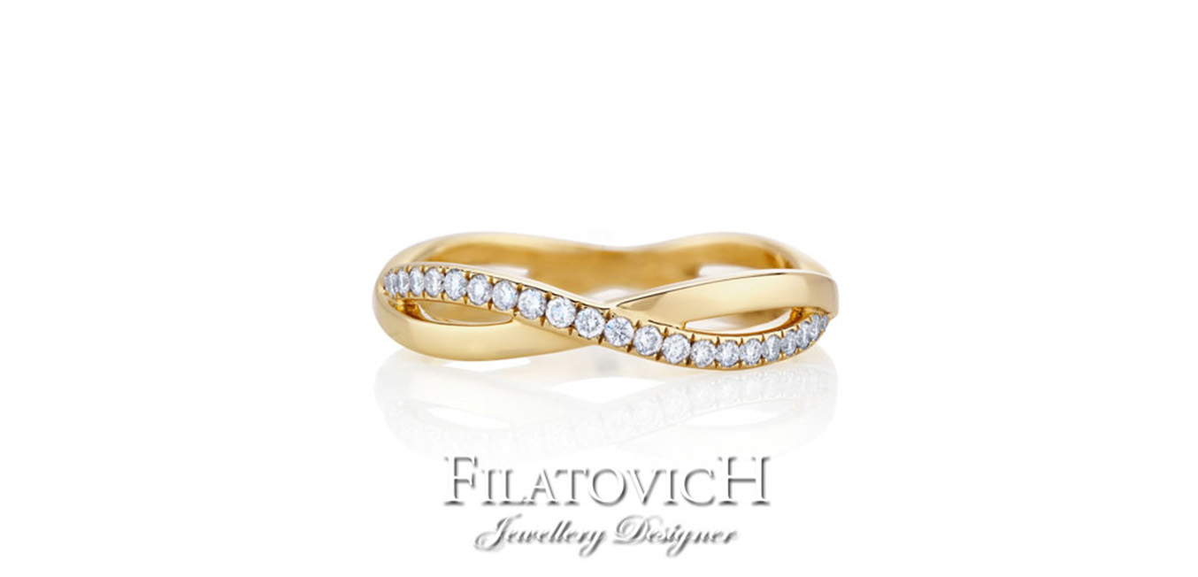 Кольцо дорожка с бриллиантами RDB-074