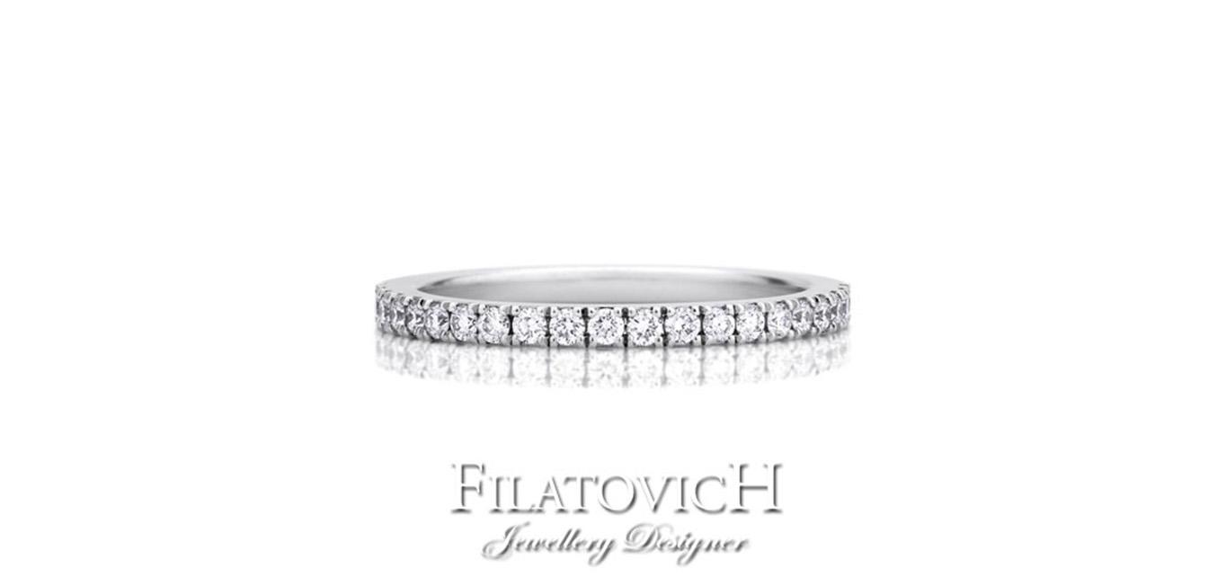 Кольцо дорожка с бриллиантами RDB-068