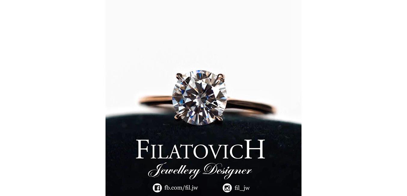 Кольцо с бриллиантом JRP-003