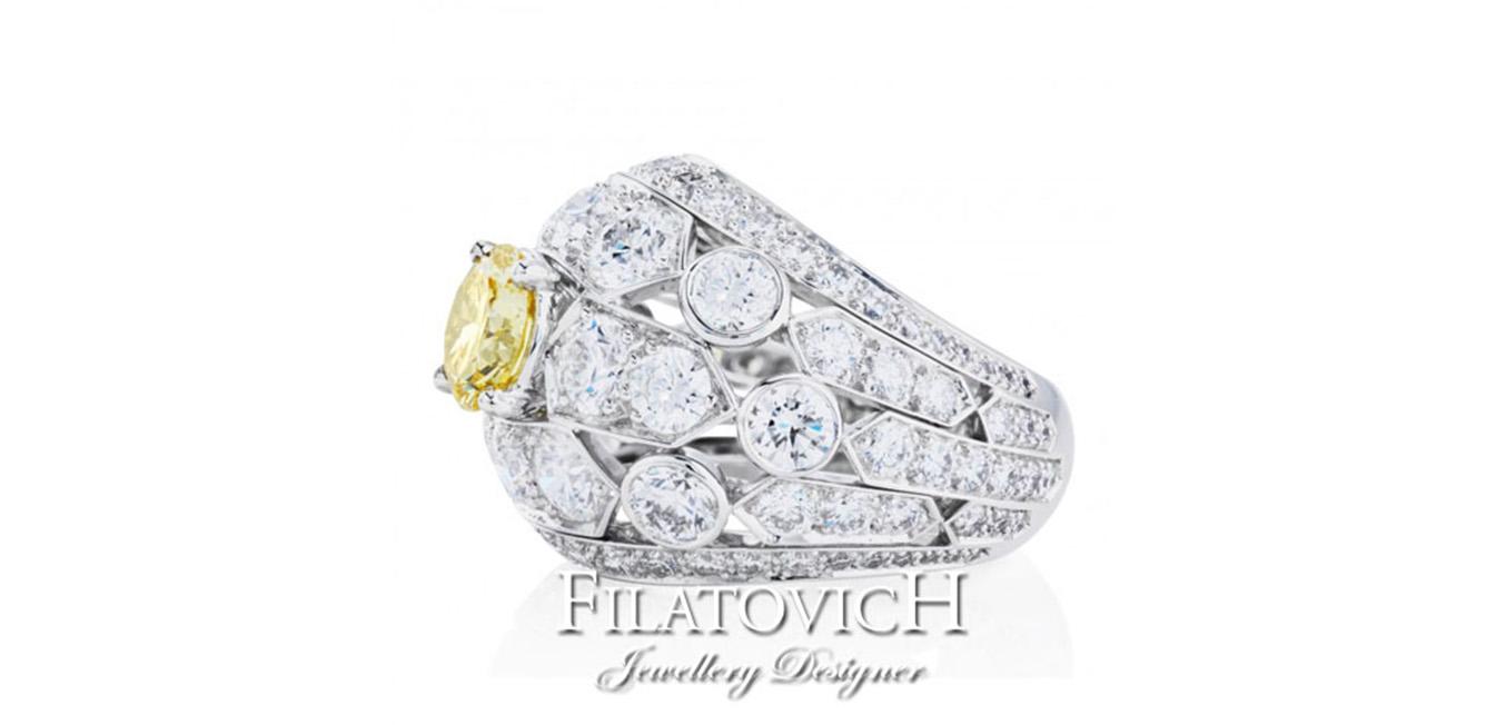 Кольцо с бриллиантами RDB-138
