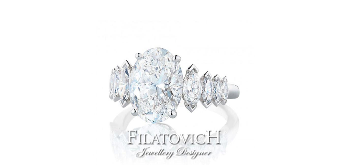 Кольцо с бриллиантами RDB-159