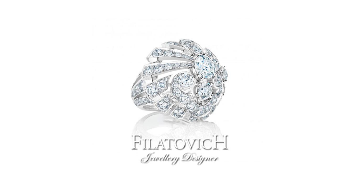 Кольцо с бриллиантами RDB-165
