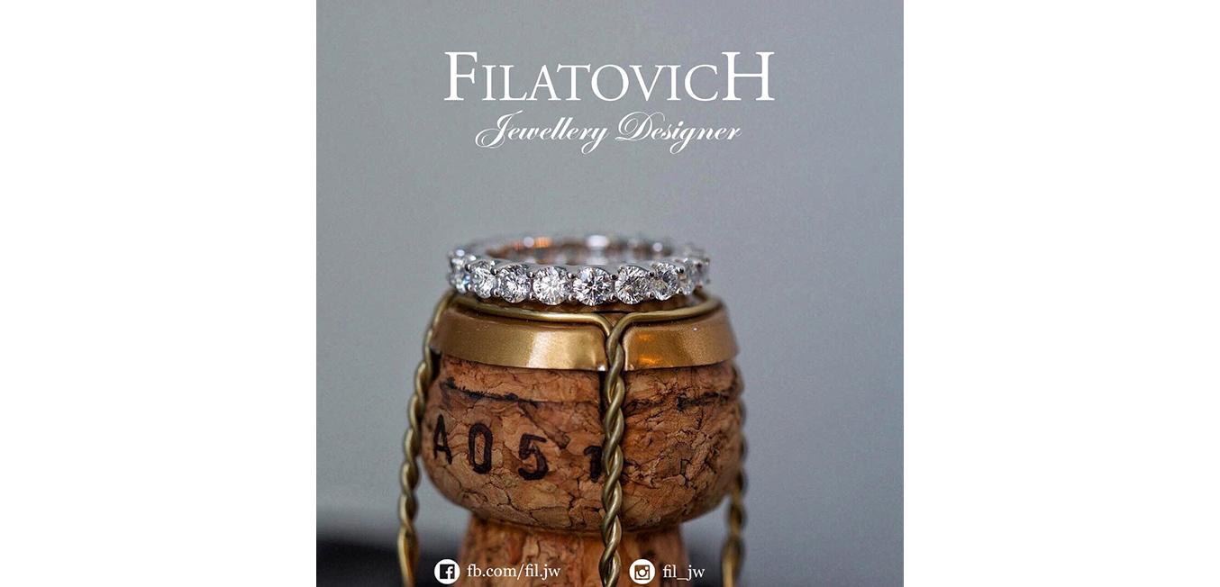 Кольцо дорожка с бриллиантами JRP-047