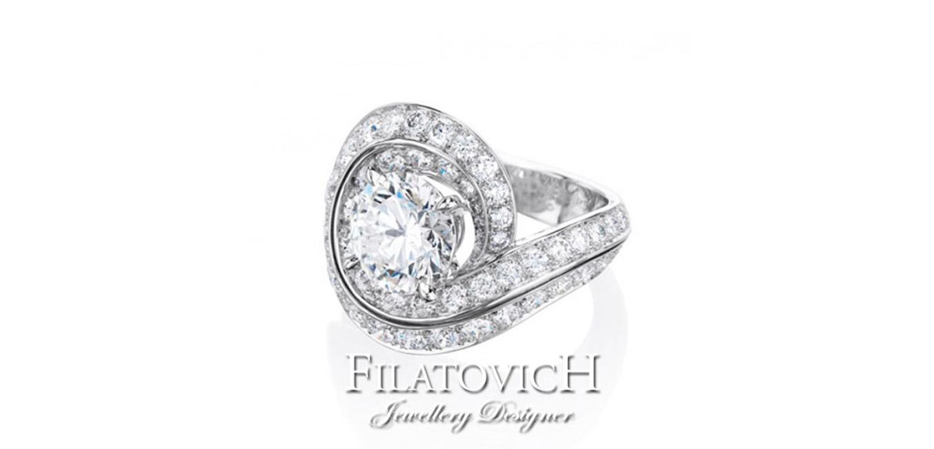 Кольцо с бриллиантами RDB-166