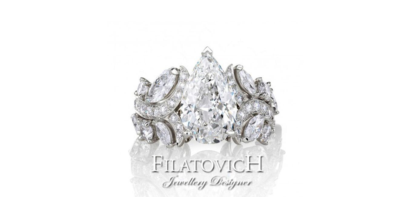 Кольцо с бриллиантами RDB-167