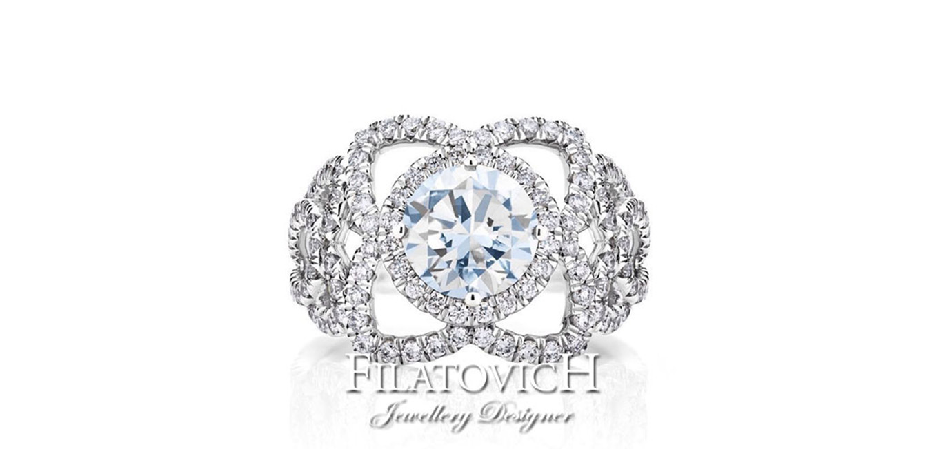Кольцо с бриллиантами RDB-150