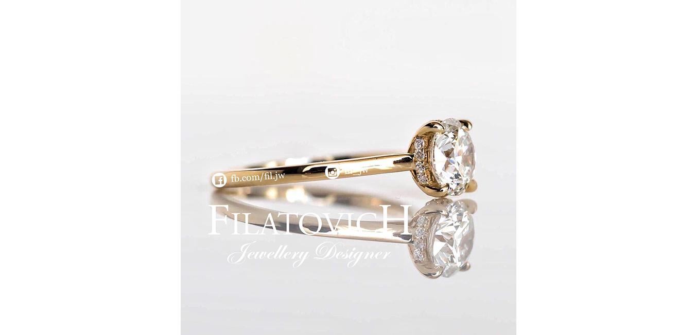Кольцо с бриллиантами JRP-006