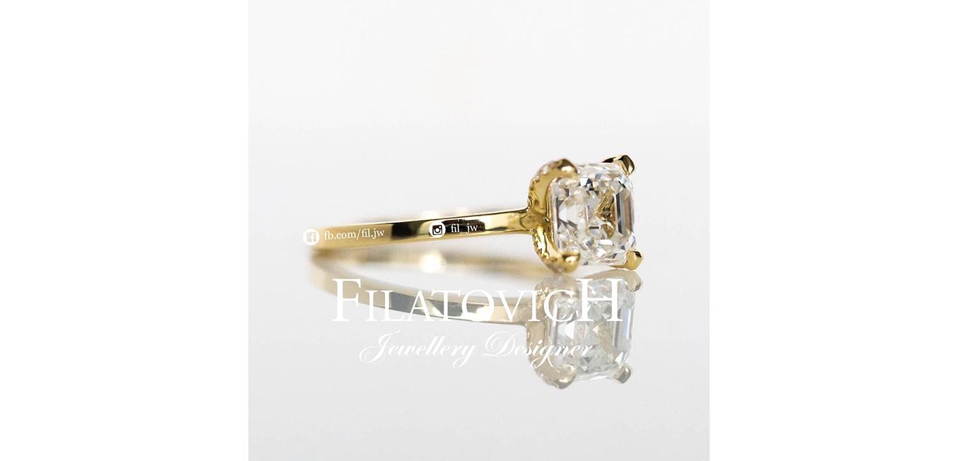 Кольцо с бриллиантами JRP-009